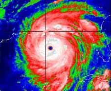 Ураган Katrina. IR-изображение